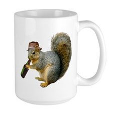 Squirrel Beer Hat Mug