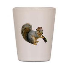 Squirrel Beer Hat Shot Glass