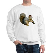 Squirrel Beer Hat Sweatshirt