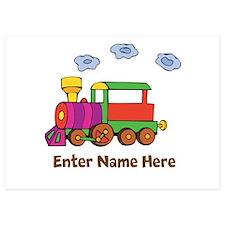 Personalized Train Engine Invitations