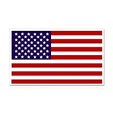 American Flag Rectangle Car Magnet