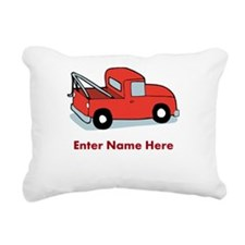 Personalized Tow Truck Rectangular Canvas Pillow