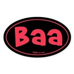 Baa Oval Sticker