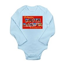 South Dakota Greetings Long Sleeve Infant Bodysuit