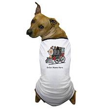 Personalized Train Engine Dog T-Shirt