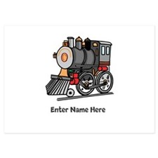 Personalized Train Engine Invitations