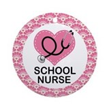 School Nurse Ornament Gift Ornament (Round)