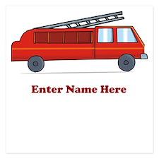 Personalized Fire Truck Invitations