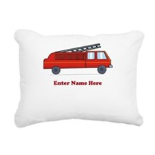 Personalized Fire Truck Rectangular Canvas Pillow