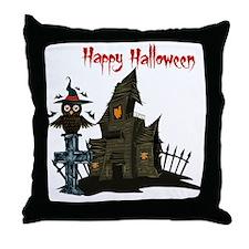 Halloween Owl Throw Pillow