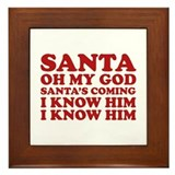 Santa Oh My God Framed Tile
