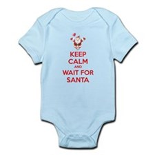 Keep calm and wait for santa Infant Bodysuit