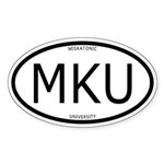 Miskatonic University Oval Sticker (With Text)