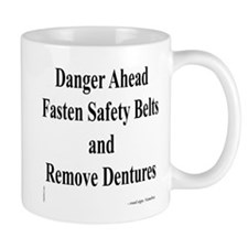 Danger Ahead road sign Mug