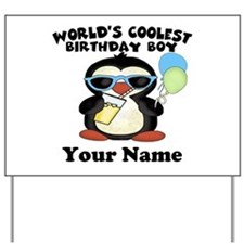 Coolest Birthday Boy Yard Sign