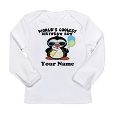 Coolest Birthday Boy Long Sleeve Infant T-Shirt