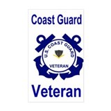 Coast Guard Veteran Sticker PO3