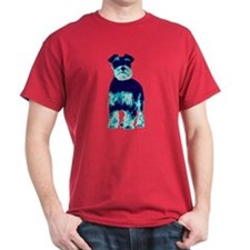 Schnauzer Pop Art Dog T-Shirt