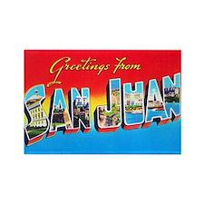 San Juan Puerto Rico Greetings Rectangle Magnet
