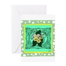 Frame Flower design Greeting Card