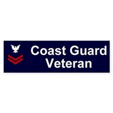 Coast Guard Veteran Bumper Sticker PO2