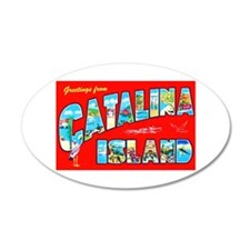 Catalina Island Greetings Wall Decal