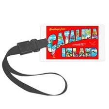 Catalina Island Greetings Luggage Tag