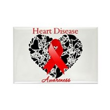 Heart Disease Heart Ribbon Rectangle Magnet