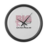 Big or Small Lets Save Them All Large Wall Clock