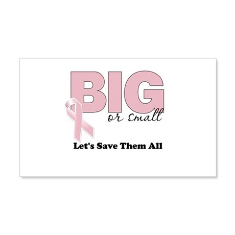 Big or Small Lets Save Them All 20x12 Wall Decal