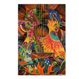 Phoenix Bird of Fire Guitar Postcards (Package of
