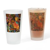 Phoenix Bird of Fire Guitar Drinking Glass
