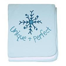 Unique Snowflake baby blanket