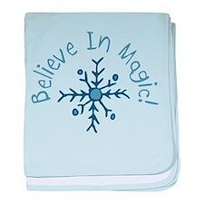 Magic Snowflake baby blanket