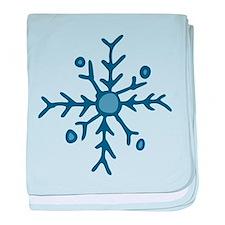 Snowflake baby blanket