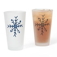 Snowflake Drinking Glass