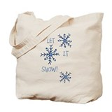 Let It Snowflakes Tote Bag