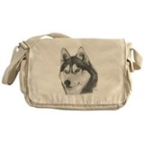 Siberian Husky Messenger Bag