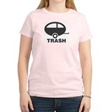 Trailer Trash Women's Pink T-Shirt