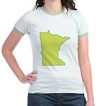 Minnesota Symbol Jr. Ringer T-Shirt