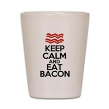 keep-calm-bacon-funny-eat Shot Glass
