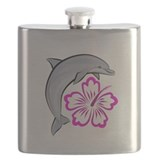 Dolphin-flower-pink-dark.psd Flask