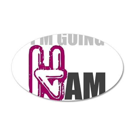 GOING HAM 35x21 Oval Wall Decal