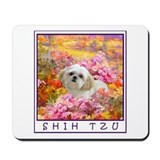 Shih Tzu Fine Art Lily Mousepad