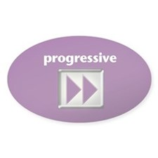 Progressive Oval Decal