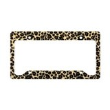 Leopard Print License Plate Holder