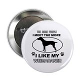"I like my Weimaraner 2.25"" Button (10 pack)"