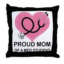 Proud Mom Of A Med Student Throw Pillow