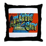 Atlantic City New Jersey Throw Pillow
