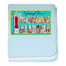 Tuscaloosa Alabama Greetings baby blanket